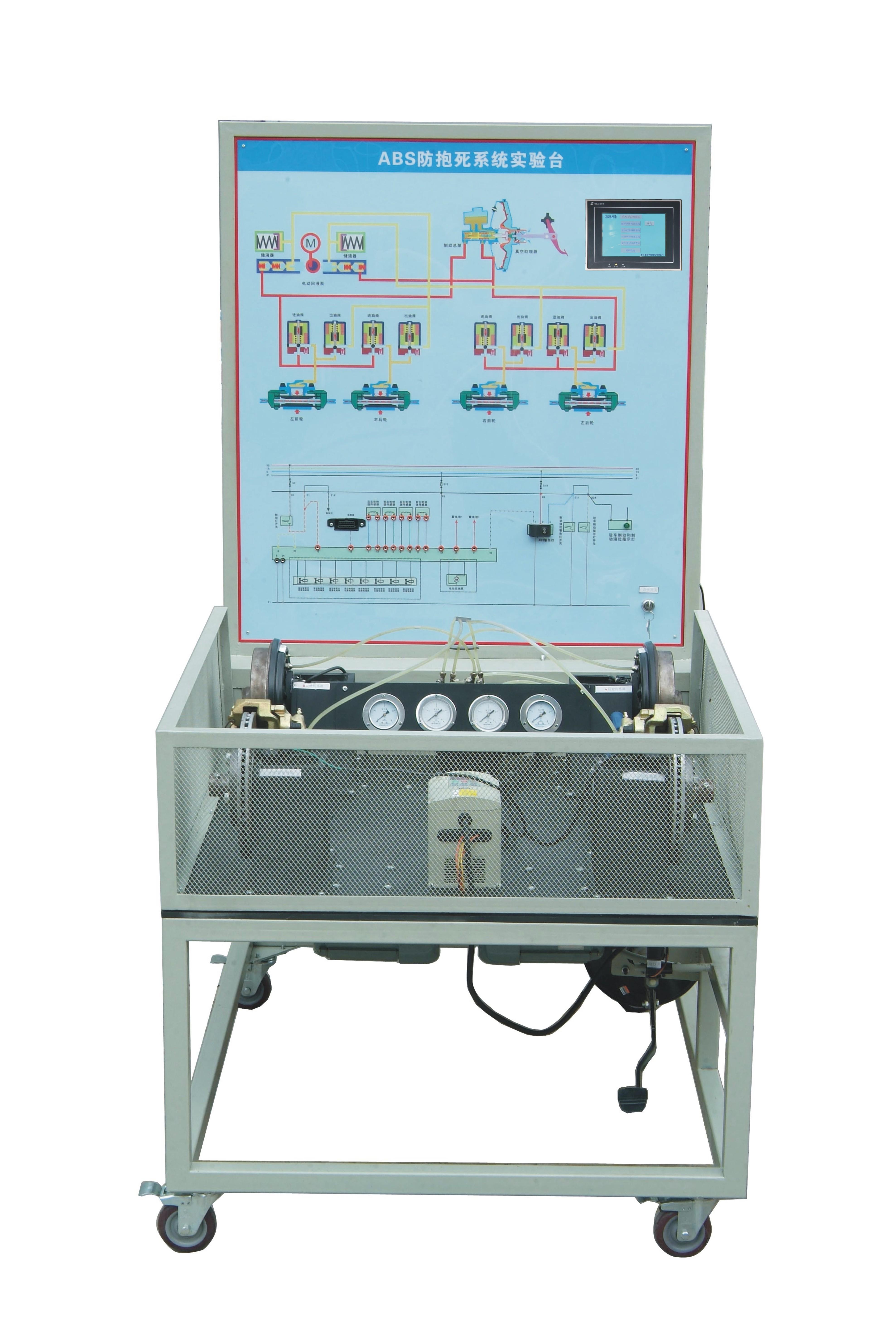 并能直接在电路图上检测abs电路进行各元件及故障分析诊断;     面板